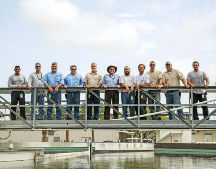 The team at the Loxahatchee River Environmental Control District Wastewater Treatment Facility includes, from left, Deveyand Dave, Jason Argraves, Waldo Cruz, Tom Cavanaugh, Dan Leucht, Tom Vaughn, Billy Slavik II, Virgilio Manera, Anthony Campbell, Anthony Nicoletto and Brandon Collins.